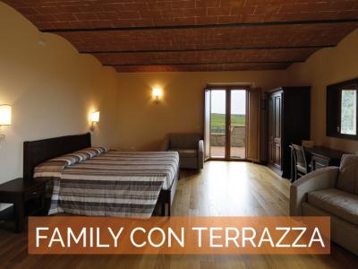 Camera Family con terrazza Agriturismo Poggio al Tufo